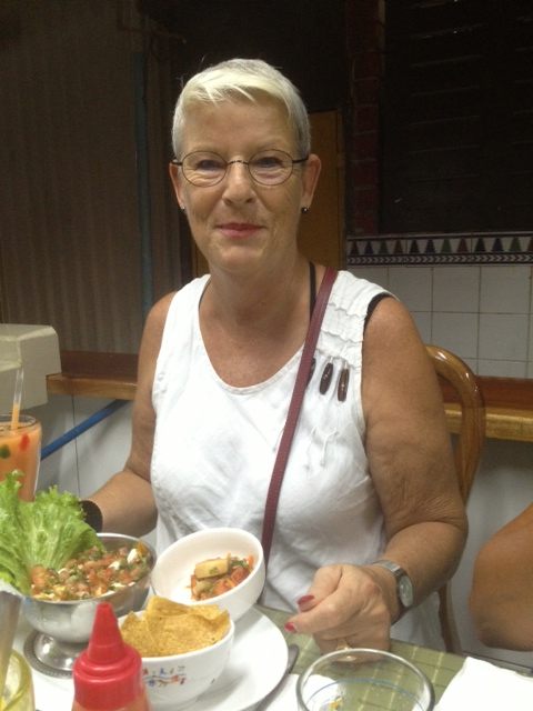 Liena had ceviche for lunch.