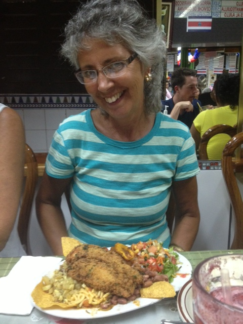 Shirley ordered the fish casado for meal.