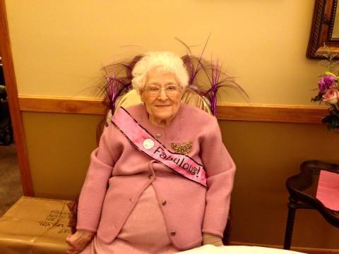 Aunt Fran's 100th